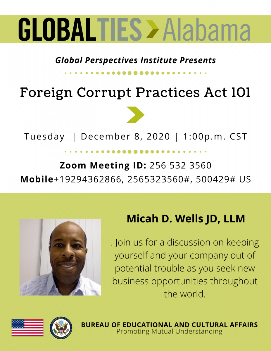 December 12, 2020 - FCPA Foreign Corrupt Practices Act 101