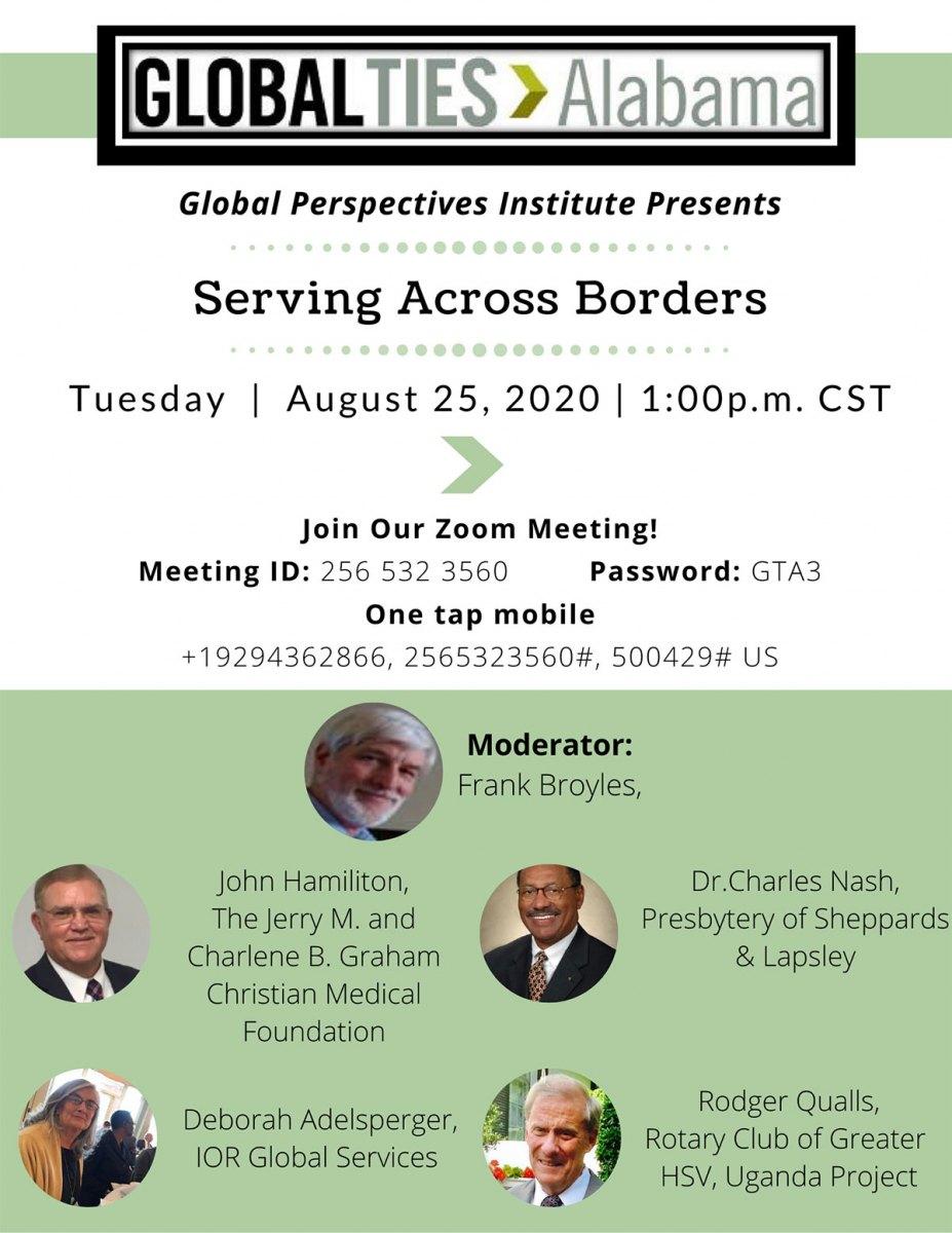 August 25, 2020 - Serving Across Borders