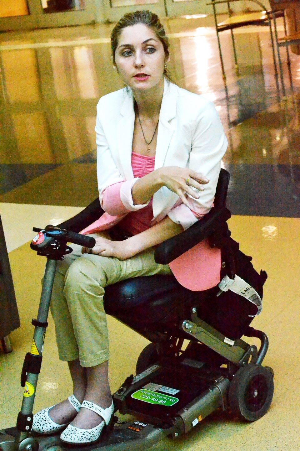 Disabled Russian visitor says of Lakeshore Foundation: 'I want to stay here'